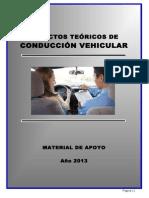MATERIAL DE APOYO-TEORIA DE LA CONDUCCIÓN VEHICULAR