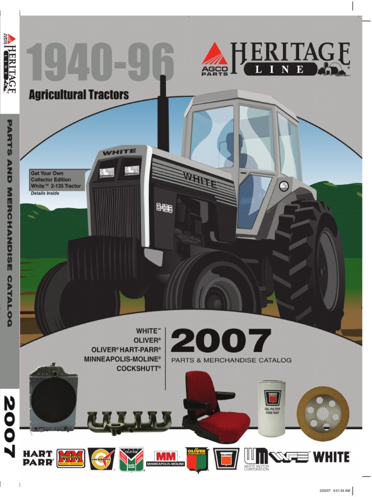 White Parts | Cylinder (Engine) | Tractor on