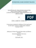 Pragmatik Strategies