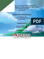 A Financial Analysis of Sabarkantha District Co-operative Milk Producers Union Ltd. Himmatnagar