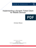Implementing a Scratch Ticket Client for Mobile Device