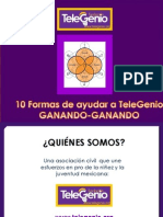 10 Formas de Ayudar a TeleGenio GANANDO-GANANDO