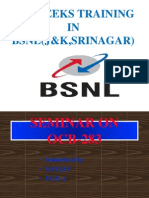 MBA SIP Project on BSNL