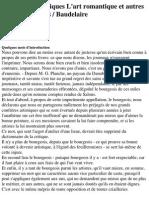 Baudelaire, Charles - Curiosités Esthétiques L'Art Romantique Et Autres Oeuvres Critiques
