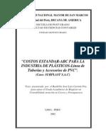 Tesis, Costos Estandar El ABC de Las Industrias Plasticas