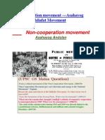 Non- Co-operation Mivement& Khilafat