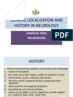 Clinical Localization and History in Neurology