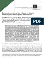 Corelate Personale Si Sociale Ale Consumului de Alcool