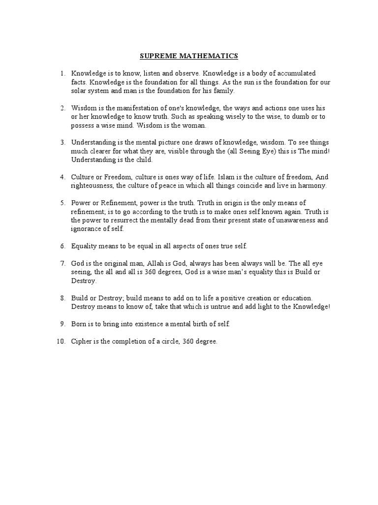 The supreme wisdom lessons pdf