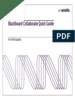 Blackboard Collaborate Quick Guide for Participants