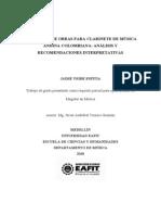 Antologia de Obras Para Clarinete de Musica Andina Colombiana Analisis y Recomendaciones Interpre