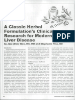 A Classic Herbal Formulation's Clinical Research for Modern-Day Liver Disease