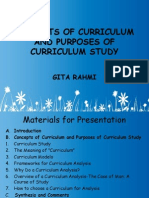 Concepts of Curriculum and Purposes of Curriculum Study