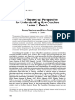 2006 a New Theoretical Perspective for Understanding How Coaches Learn to Coach