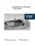 Operational guidelines Plönninge biogas plant