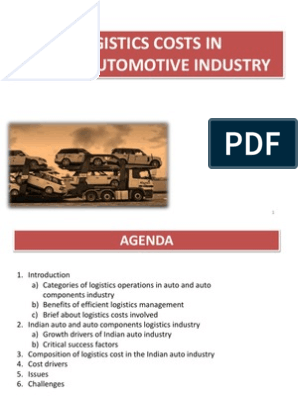 3- Logistic Cost in Automotive Industry   Logistics   Inventory