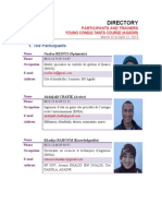 Directory of the Agadir Young Consultants Course, held in March-April, 2014