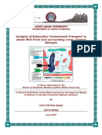 Analysis of Subsurface Contaminant Transport in