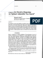 KORF 1985 Depth First Iterative Deepening an Optimal Admissible Tree Search