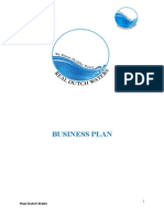 "Business Plan for ""Real Dutch Water"""
