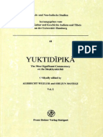Yuktidipika. the Most Significant Commentary on the Sankhyakarika (Vol. 1) [Crit. Ed. by Wezler]