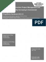 2012-13 CM Programme Handbook