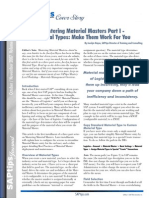 Mastering Material Masters