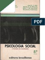 Psicologia Social -  O Homem Em Movimento Silvia T, Maurer Lane , Wanderley Codo (Orgs.) - Livro completo