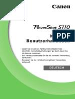 PowerShot S110 Camera User Guide De