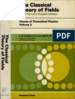 Volume 2 the Classical Theory of Fields