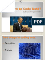 Research Assignment 3.2 How to Code Data
