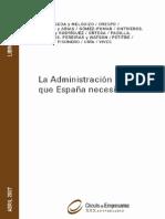 La Administracion Publica Que Espana Necesita 1