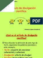 el-articulo-de-divulgacion-cientifica.ppt