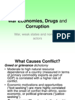War Economies, Drugs and Corruption