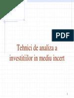 136683510 Analiza Investitiilor in Mediu Incert