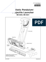 Ballistic Pendulum Manual ME 6830