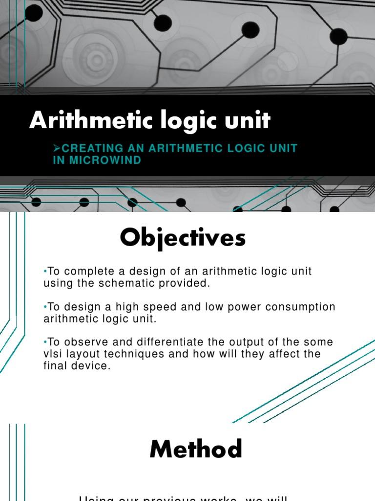 Arithmetic Logic Unit Cmos Gate Diagram