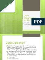 Data Organization for Analysis