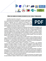 Manifiesto Encuentro Sindical Unitario 02 Abril 2014