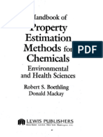 Handbook of Property Estimation Methods for Chemicals Environmental and Health Sciences
