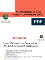 Lecture 1& 2-Introduction to New Product Development