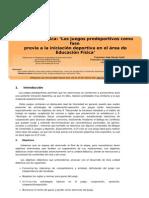 Unidad didáctica, los juegos predeportivos como fase previa a la iniciación deportiva en el área de Educación física