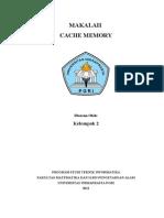Makalah Cache Memory
