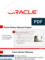 Oracle Import work bench