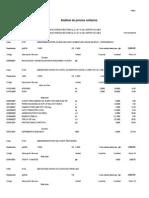 Analisis de Costos de Veredas