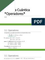 Química Cuántica - OPERADORES