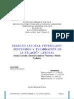 Trabajo Derecho Laboral Venezolano