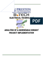 Analysis of a Renewable Energy Project Implimentation