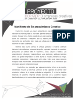 Manifiesto de Emprendimiento Creativo - Hacia una cultura emprendedora en Puerto Rico