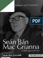 Mac Corraidh, Seán (Eag.)  - Seán Bán Mac Grianna, Scéalta agus Amhráin (Coiscéim, 2010); 4687
